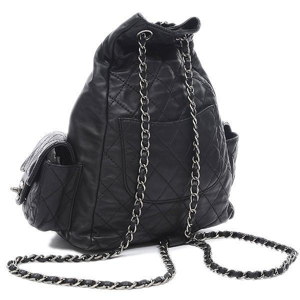 シャネル マトラッセ チェーンリュックサック ラムスキン ブラック A65834 送料無料 ブランドピース