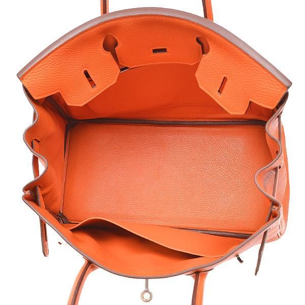 エルメス バーキン30 トゴ オレンジ シルバー金具 N刻印  ブランドピース