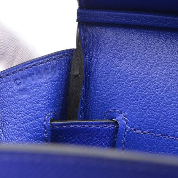エルメス バーキン30 エプソン ブルーエレクトリック ゴールド金具 C刻印  ブランドピース