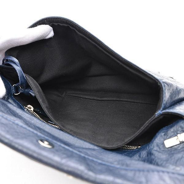 バレンシアガ ジャイアントエンベロープ クラッチ ショルダーバッグ レザー ネイビー 327079 送料無料 ブランドピース