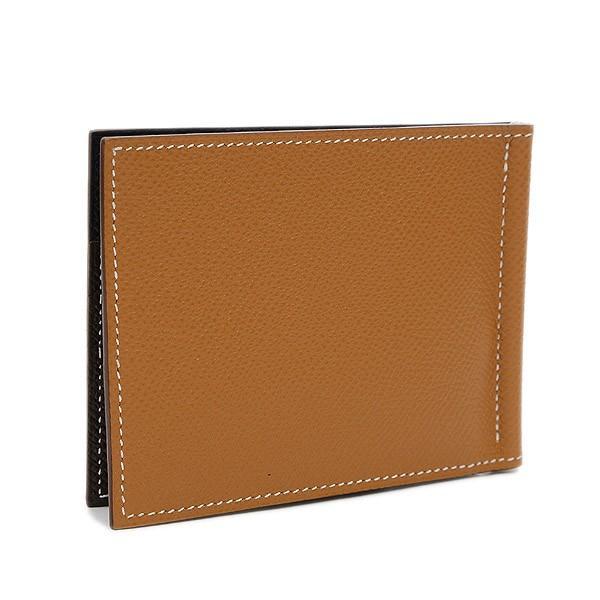 エルメス ポーカーGM マネークリップ 二つ折り財布 エプソン ゴールド/ブラック/ブラウン D刻印 送料無料 ブランドピース|brandpeace|02