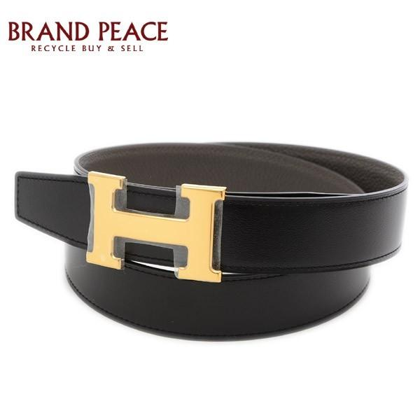 エルメスコンスタンスHベルトボックスカーフ/トゴブラック/エタンゴールド金具#90D刻印ブランドピース