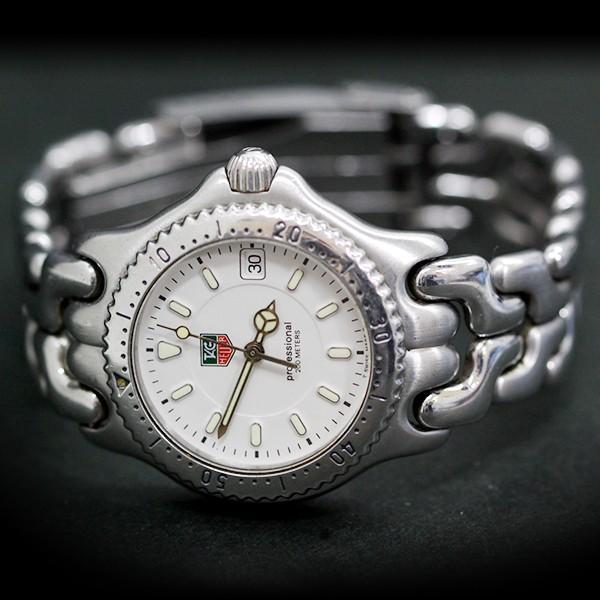 【USED】タグホイヤー プロフェッショナル 200m WG1212-K0 腕時計 ホワイト×シルバー レディース/約17.5cm 電池式/3針/日付 白×銀
