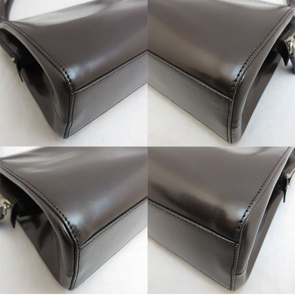 プラダ バッグ ハンド B11028 レザー PRADA レディース 黒 ブラック ABランク あすつく  六甲道店