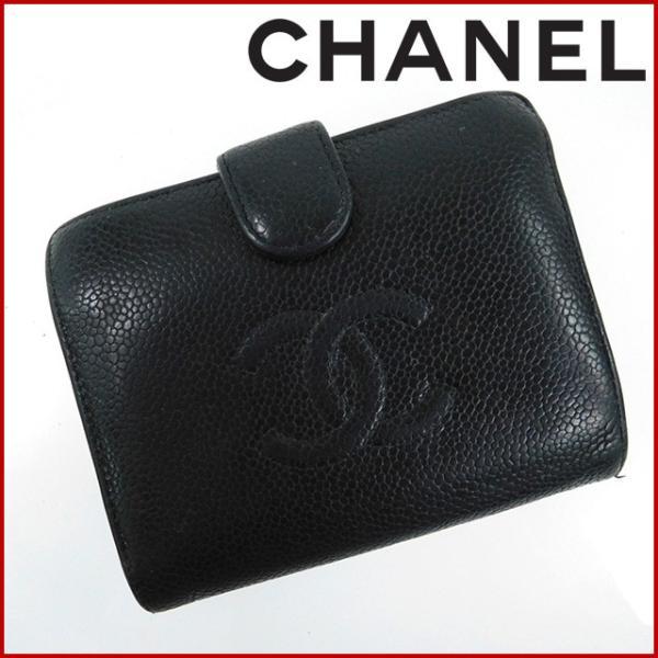 045992288502 シャネル 財布 レディース (メンズ可) CHANEL 二つ折り財布 がま口財布 10番台 キャビア ...
