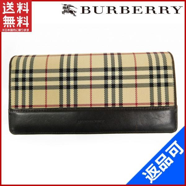 7e50b33ef1 バーバリー BURBERRY 財布 長財布 ノバチェック 中古 X14076 :X14076 ...