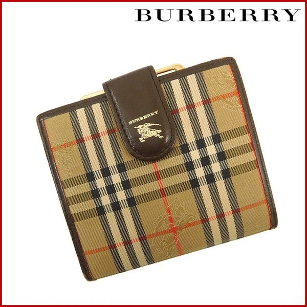 low priced a8cca 222c3 バーバリー 財布 レディース (メンズ可) BURBERRY 二つ折り財布 ...