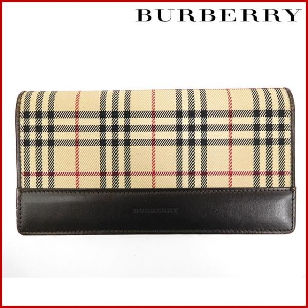 2e20c0d667 バーバリー 財布 レディース (メンズ可) BURBERRY 長財布 がま口財布 ノバチェック 中古 X16035 ...