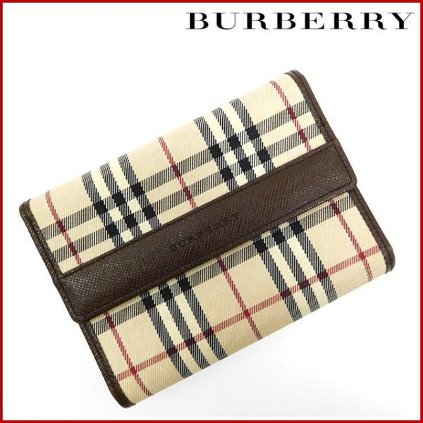 03761e04f2 バーバリー 財布 レディース (メンズ可) BURBERRY 二つ折り財布 三つ折り財布 ノバチェック ...
