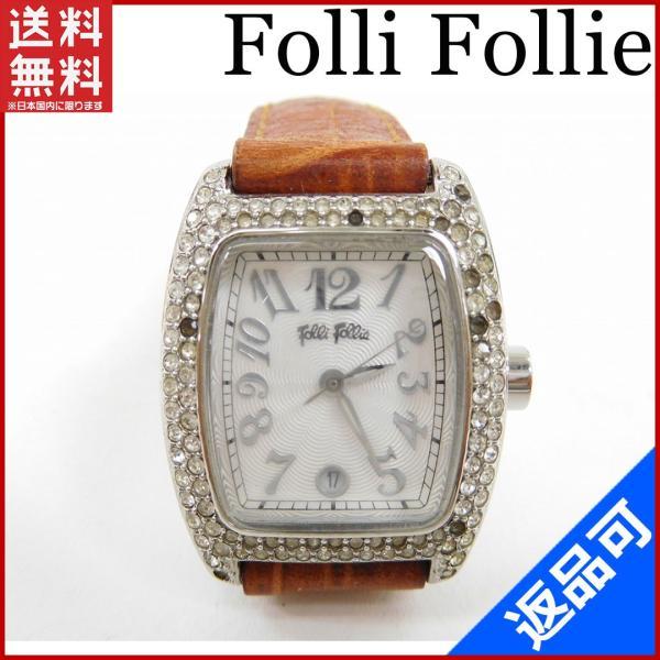 [半額セール!] フォリフォリ Folli Follie 腕時計 ロゴ×ラインスローン 中古 X3056|brands