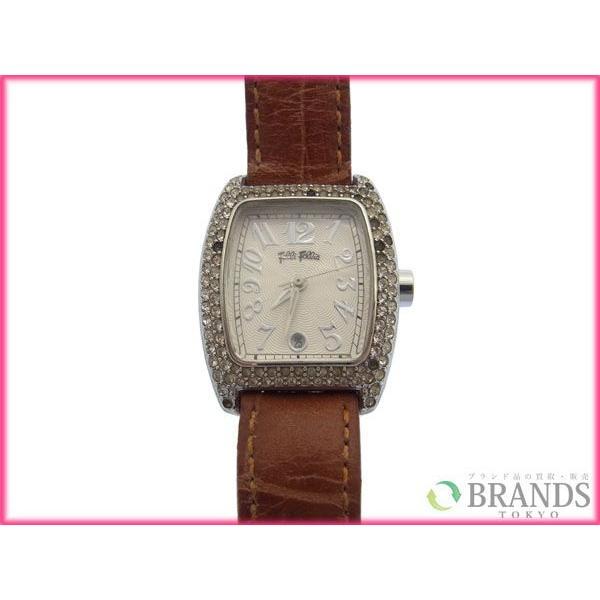 [半額セール!] フォリフォリ Folli Follie 腕時計 ロゴ×ラインスローン 中古 X3056|brands|02