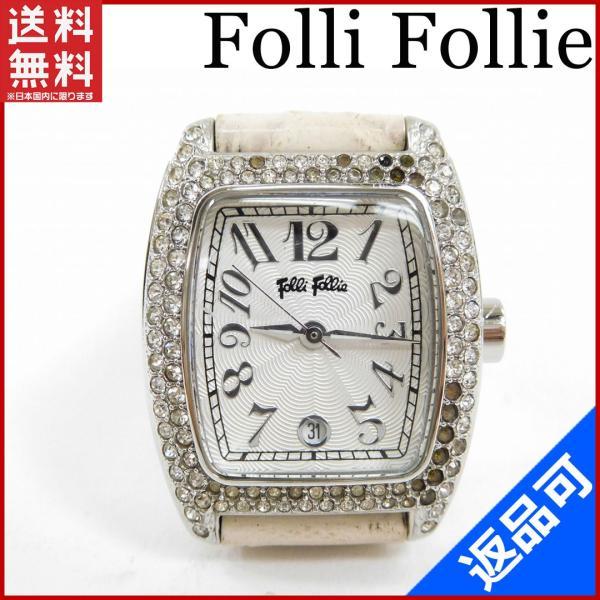 [半額セール!] フォリフォリ Folli Follie 腕時計 ロゴ 中古 X3132|brands