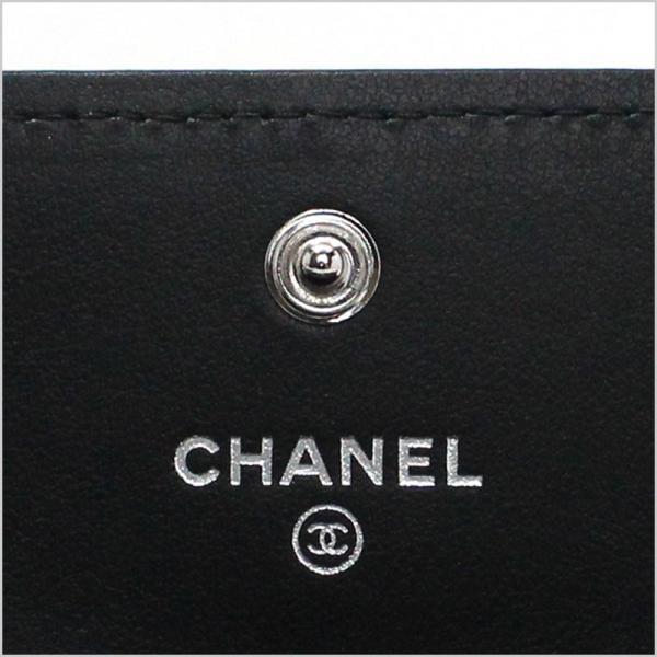シャネル CHANEL 長財布 フラップウォレット 2019年春夏SSプレコレクション新作 カメリア ラムスキン ブラック 黒