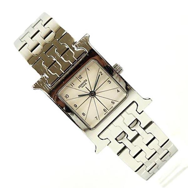 new product 1a70a 8c1d9 HERMES エルメス Hウォッチ H1.210 レディース ウォッチ 女性 腕時計 人気ブランド時計 おしゃれ 中古
