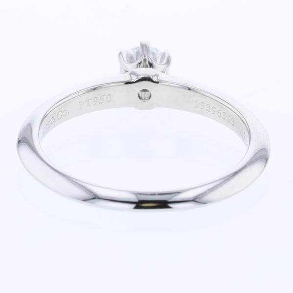 ティファニー ソリテール 0.19ct 1ポイントリング・指輪  プラチナPT950 ダイヤモンド0.19ct 8号 レディース TIFFANY&Co. 中古 K81213008