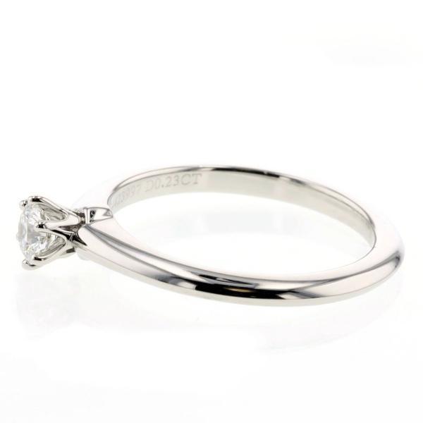 ティファニー ソリテール ダイヤモンド0.23ct リング 指輪 プラチナPT950 11.5号 レディース TIFFANY&Co. 中古 K90213010