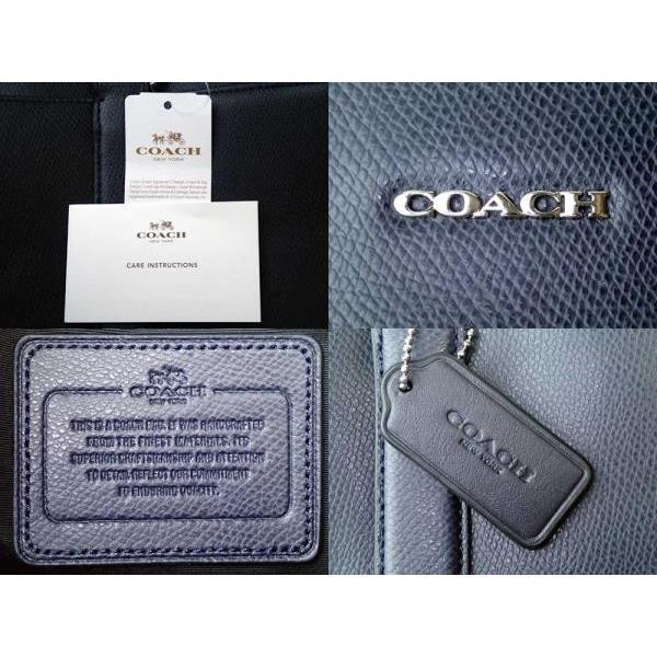 COACH コーチ メンズ  クロスグレイン レザー スリム ブリーフ ミッドナイト ネイビー 紺 ビジネスバッグ ブリーフケース 2WAY 標準サイズ|brandshop-smile|03