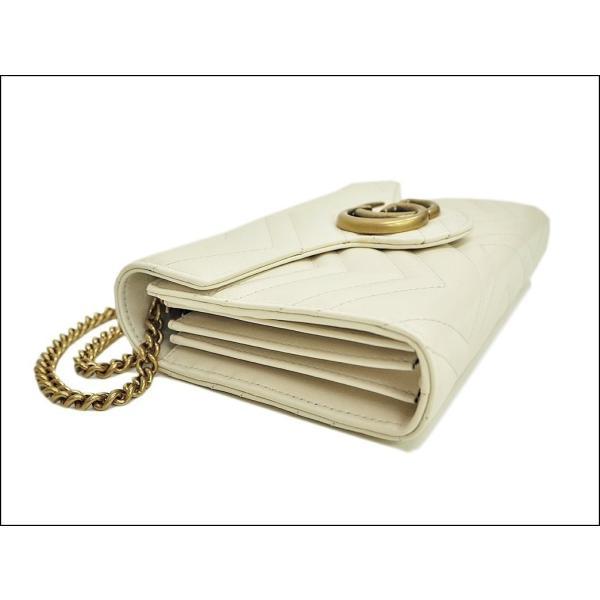 グッチ GUCCI GGマーモント キルティング ミニショルダーバッグ ホワイト 474575 シェブロンレザー レディース お財布ポシェット 小さい