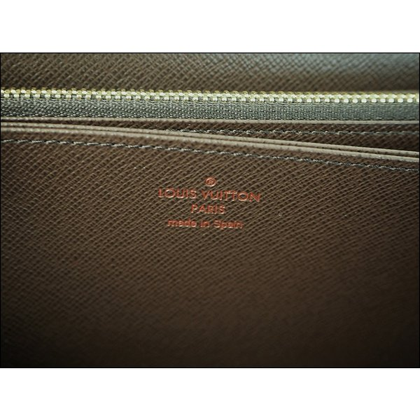 ルイヴィトン LOUIS VUITTON ジッピーウォレット ダミエ・エベヌ N41661 レディース ラウンドファスナー長財布 小銭入れあり ロングウォレット