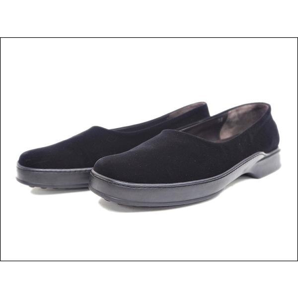 e8b5d76d96e083 トッズ TOD'S ベロア スリッポン 靴 ブラック ベロア レディース 中古