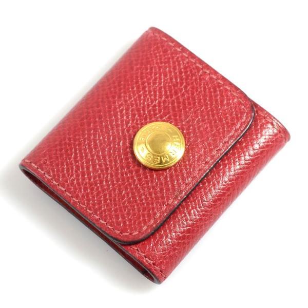 エルメス HERMES 付箋カバー レザーxゴールド金具 レッド 定番人気|brandvalue-store
