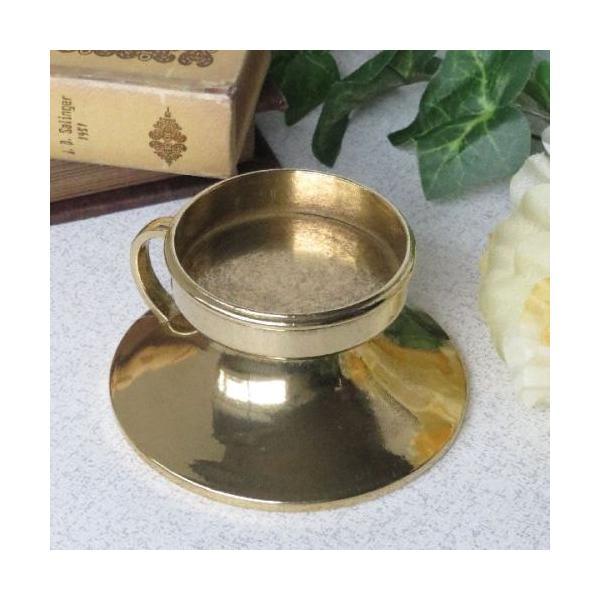 1灯ピアット燭台キャンドルホルダーキャンドルスタンド 真鍮製品金色 ブラス イタリア製アンティーク調雑貨