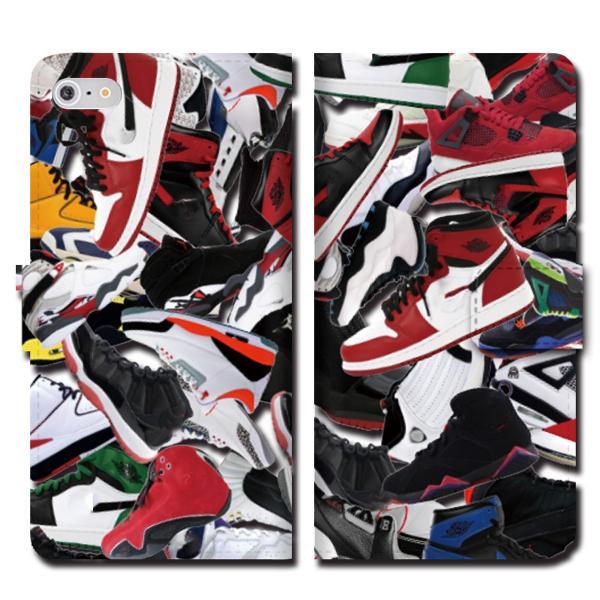 iPhoneXS Max XR X iPhone 8 7 6s 6 plus SE 5s 5 手帳 全機種 スマホ ケース NIKE ナイキ スニーカー ジョーダン 総柄 ダンク NBA brave-sports 02