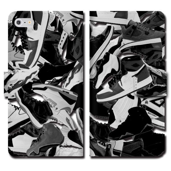 iPhoneXS Max XR X iPhone 8 7 6s 6 plus SE 5s 5 手帳 全機種 スマホ ケース NIKE ナイキ スニーカー ジョーダン 総柄 ダンク NBA brave-sports 03