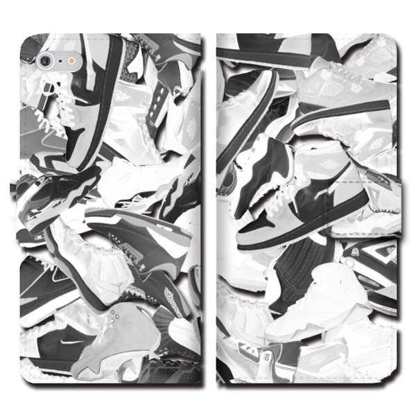 iPhoneXS Max XR X iPhone 8 7 6s 6 plus SE 5s 5 手帳 全機種 スマホ ケース NIKE ナイキ スニーカー ジョーダン 総柄 ダンク NBA brave-sports 04