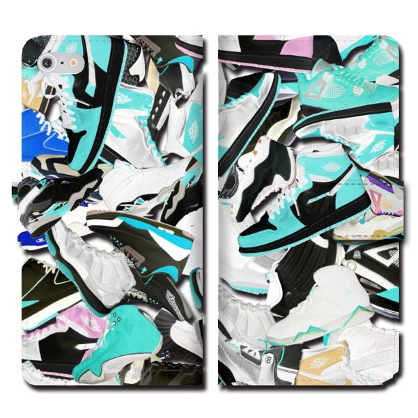 iPhoneXS Max XR X iPhone 8 7 6s 6 plus SE 5s 5 手帳 全機種 スマホ ケース NIKE ナイキ スニーカー ジョーダン 総柄 ダンク NBA brave-sports 05