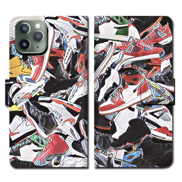 iPhoneXS Max XR X iPhone 8 7 6s 6 plus SE 5s 5 手帳 全機種 スマホ ケース NIKE ナイキ スニーカー ジョーダン 総柄 ダンク NBA brave-sports 08