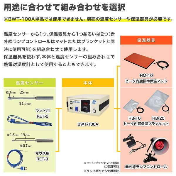 HB-10:ヒータ内蔵保温ブランケット(標準)、約21cm x 15cm brck 02