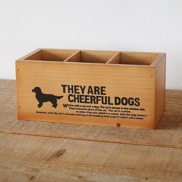 犬柄 ペンスタンド ペン立て リモコンラック DOG 木製 BREA 犬雑貨/かわいい/インテリア/日本製