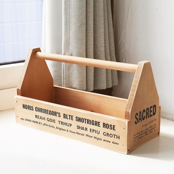 木箱 ツールボックス ブラウン おしゃれ ガーデニング 日本製 BREA