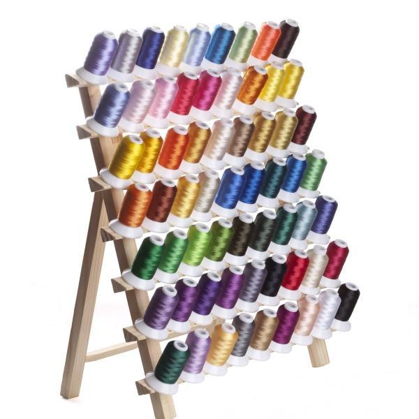 カラー糸 ミシン糸 DIY刺しゅう糸 63色/各500m 家庭ミシン刺繍糸|break19