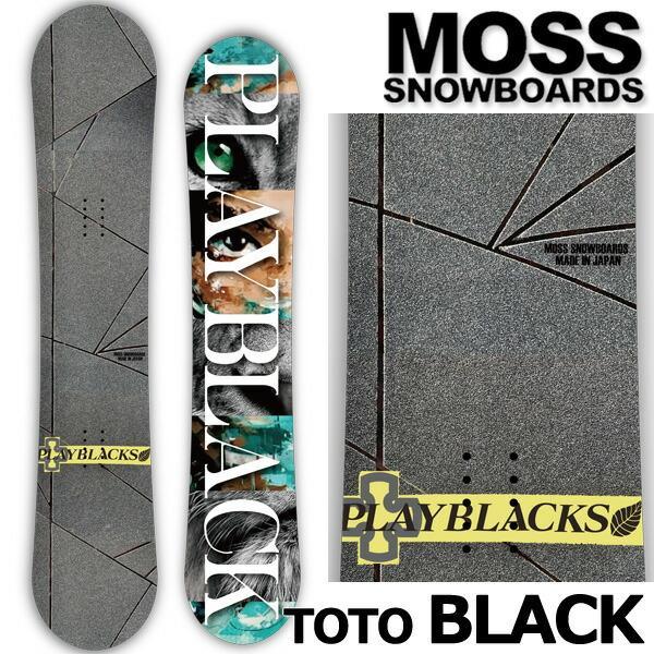 21-22 MOSS SNOWBOARDS/モス スノーボード TOTO BLACK トトブラック メンズ レディース スノーボード 板 2022 予約商品