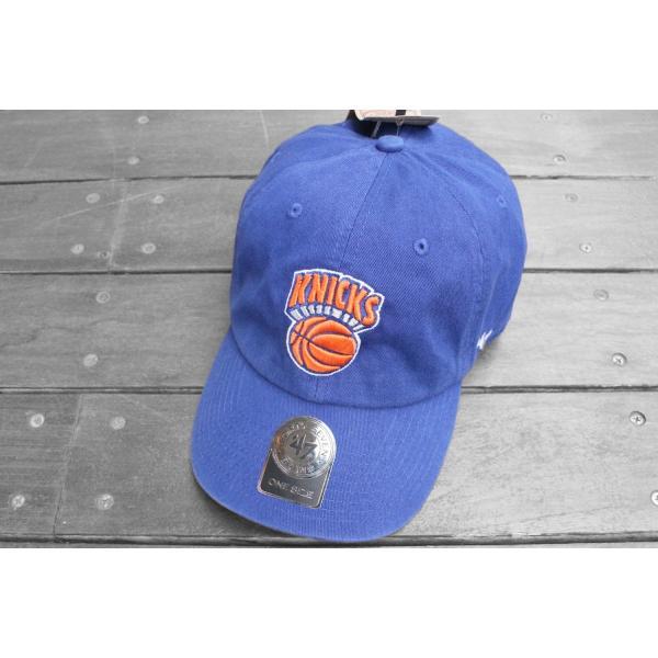 '47 ブランド ニューヨーク ニックス クリーン アップ キャップ ブルー 帽子 / '47 BRAND NEW YORK KNICKS CLEAN UP CAP [BLUE]|breaks-general-store