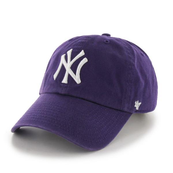 '47 ブランド ニューヨーク ヤンキース クリーン アップ キャップ パープル / '47 BRAND NEW YORK YANKEES CLEAN UP CAP [PURPLE] breaks-general-store