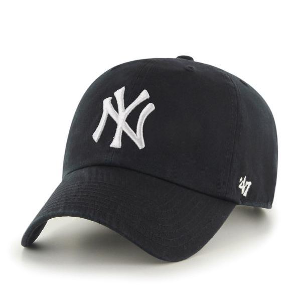 '47 ブランド ニューヨーク ヤンキース クリーン アップ キャップ ブラック / '47 BRAND NEW YORK YANKEES CLEAN UP CAP [BLACK] breaks-general-store