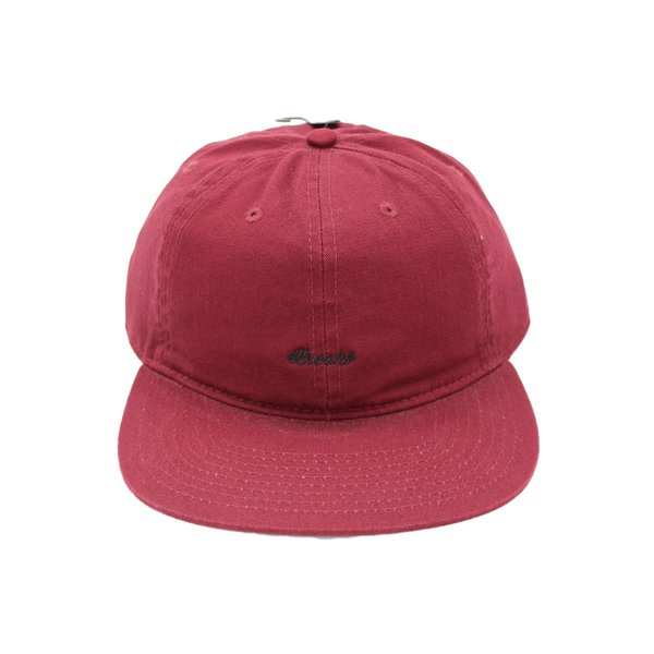 ブレイクス スクリプト ロゴ 6 パネル キャップ バーガンディー / BREAKS SCRIPT LOGO 6 PANEL CAP [BURGUNDY]|breaks-general-store