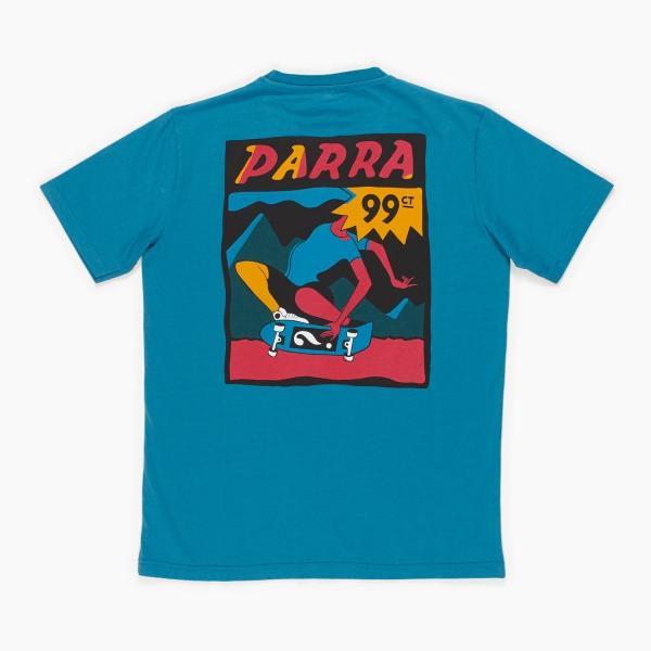 バイ パラ Tシャツ インディ タック ニー スレート ブルー / BY PARRA T-SHIRT INDY TUCK KNEE [SLATE BLUE]|breaks-general-store