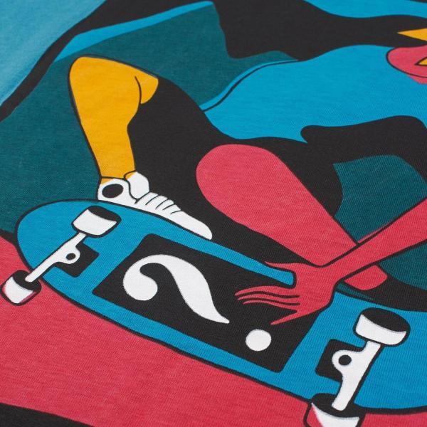 バイ パラ Tシャツ インディ タック ニー スレート ブルー / BY PARRA T-SHIRT INDY TUCK KNEE [SLATE BLUE]|breaks-general-store|03