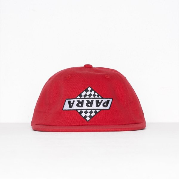 バイ パラ 6 パネル キャップ ノット レーシング レッド  / BY PARRA 6 PANEL HAT NOT RACING [RED]|breaks-general-store