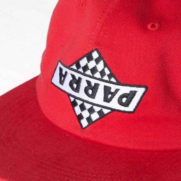 バイ パラ 6 パネル キャップ ノット レーシング レッド  / BY PARRA 6 PANEL HAT NOT RACING [RED]|breaks-general-store|02