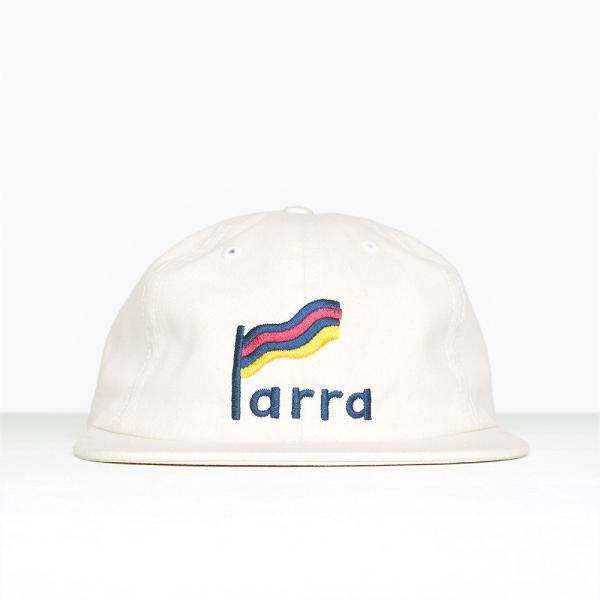 バイ パラ ストライプド フラッグ 6 パネル ハット キャップ ナチュラル / BY PARRA STRIPED FLAG 6 PANEL HAT [NATURAL]|breaks-general-store