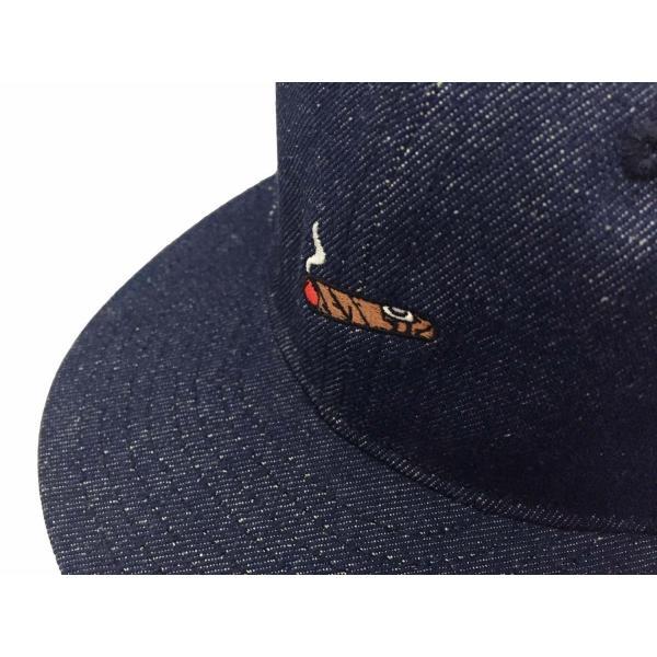 エベッツフィールド フランネルズ X ブレイクス シガー デニム ベースボール キャップ 別注 / EBBETS FIELD FLANNELS X BREAKS CIGAR DENIM BASEBALL BB CAP|breaks-general-store|02