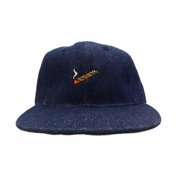 エベッツフィールド フランネルズ X ブレイクス シガー デニム ベースボール キャップ 別注 / EBBETS FIELD FLANNELS X BREAKS CIGAR DENIM BASEBALL BB CAP|breaks-general-store|03