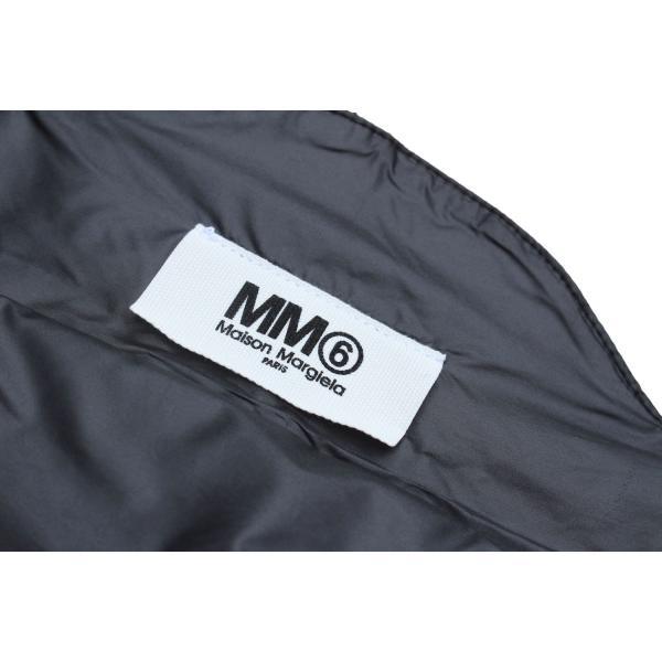 MM6 メゾン マルタン マルジェラ 20周年 ショッピング トートバッグ ブラック / MM6 MAISON MARTIN MARGIELA 20TH ANNIVERSARY SHOPPING TOTE BAG [BLACK]|breaks-general-store|04