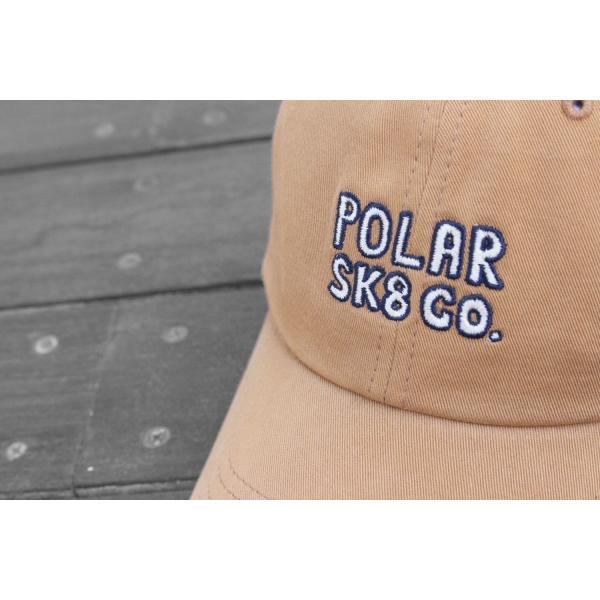 ポーラー スケート SK8 キャップ キャメル 帽子 / POLAR SKATE CO. SK8 CO CAP [CAMEL]|breaks-general-store|02