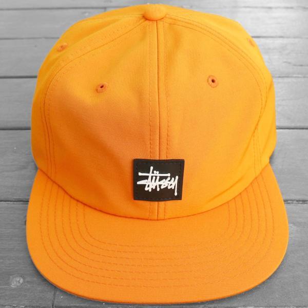 ステューシー ストック ロゴ ストラップバック キャップ オレンジ 帽子 / STUSSY STOCK LOGO STRAPBACK CAP [ORANGE]|breaks-general-store